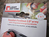 Огниво с кресалом FireSteel Army 2.0 Orange 11103610, фото 3