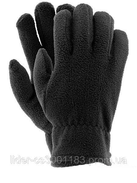Флисовые перчатки зимние - Польша (REIS) черные