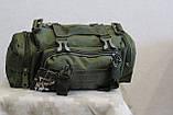 Тактическая универсальная (поясная, наплечная) сумка Silver Knight с системой M.O.L.L.E (105-olive), фото 7