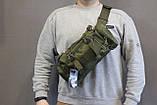Тактическая универсальная (поясная, наплечная) сумка Silver Knight с системой M.O.L.L.E (105-olive), фото 8