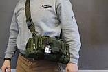 Тактическая универсальная (поясная, наплечная) сумка Silver Knight с системой M.O.L.L.E (105-olive), фото 10
