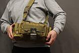Тактическая универсальная (поясная, наплечная) сумка Silver Knight с системой M.O.L.L.E Coyote (105-coyote), фото 3