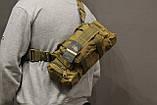 Тактическая универсальная (поясная, наплечная) сумка Silver Knight с системой M.O.L.L.E Coyote (105-coyote), фото 4
