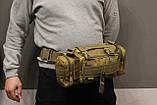 Тактическая универсальная (поясная, наплечная) сумка Silver Knight с системой M.O.L.L.E Coyote (105-coyote), фото 7