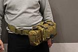 Тактическая универсальная (поясная, наплечная) сумка Silver Knight с системой M.O.L.L.E Coyote (105-coyote), фото 8