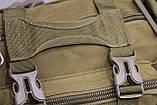 Тактическая универсальная (поясная, наплечная) сумка Silver Knight с системой M.O.L.L.E Coyote (105-coyote), фото 9