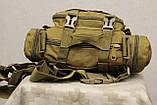 Тактическая универсальная (поясная, наплечная) сумка Silver Knight с системой M.O.L.L.E Coyote (105-coyote), фото 10