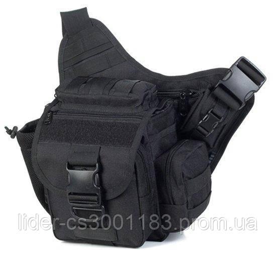 Тактическая - городская универсальная сумка Silver Knight с системой M.O.L.L.E Black (865-black)