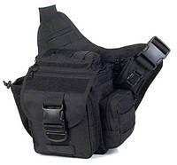 Тактическая - городская универсальная сумка Silver Knight с системой M.O.L.L.E Black (865-black), фото 1