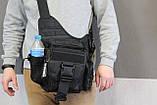 Тактична - міська універсальна сумка Silver Knight з системою M. O. L. L. E Black (863-black), фото 2