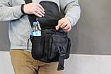 Тактична - міська універсальна сумка Silver Knight з системою M. O. L. L. E Black (863-black), фото 3