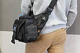 Тактична - міська універсальна сумка Silver Knight з системою M. O. L. L. E Black (863-black), фото 6