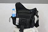 Тактична - міська універсальна сумка Silver Knight з системою M. O. L. L. E Black (863-black), фото 7