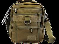 Тактическая универсальная сумка на плечо Silver Knight с системой M.O.L.L.E (102-coyote), фото 1