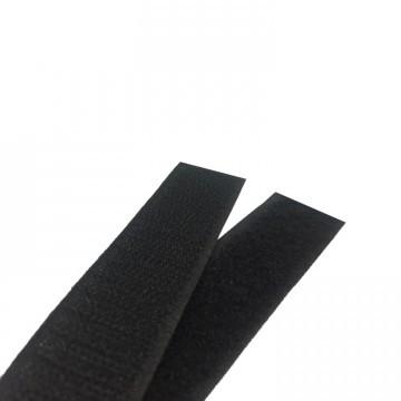 Текстильная застежка (липучка) цвет черный  S-580  50мм (боб 25м)  Veritas