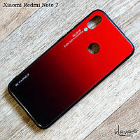 TPU чехол с градиентом для Xiaomi Redmi Note 7 (красно-черный)