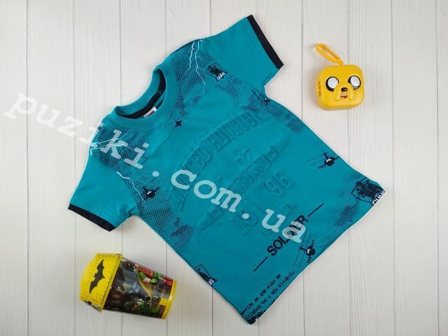 Летняя голубая футболка с самолетами на мальчика картинка