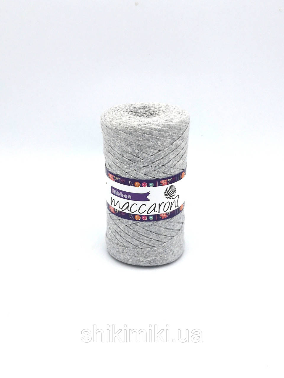 Трикотажный плоский шнур Ribbon, цвет Светло-серый