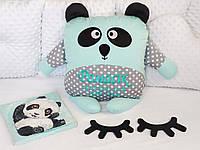 Именная игрушка панда с метрикой