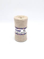 Трикотажные шнуры Maccaroni Ribbon 6mm ,цвет бежевый