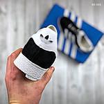 Чоловічі кросівки Adidas Gazelle (чорно/білі), фото 2