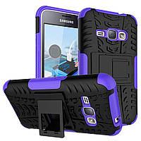 Чехол Armor Case для Samsung Galaxy J1 2016 (J120) Фиолетовый, фото 1