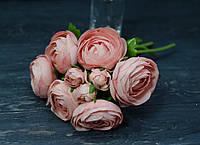 Букет ранункулуса розово-коралового цвета, фото 1