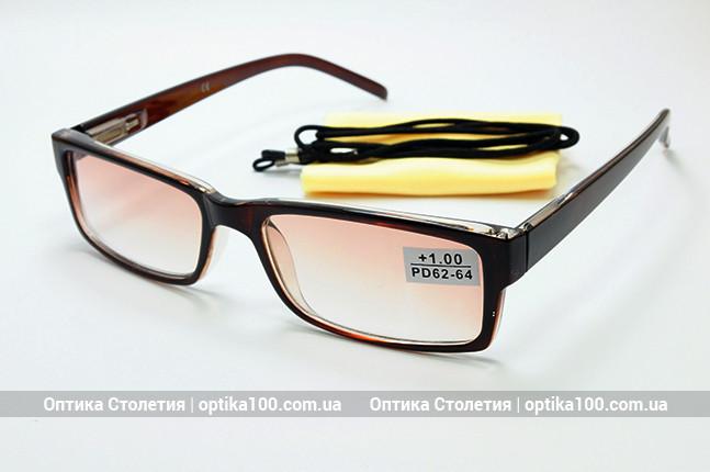 Тонированные коричневые очки для зрения с диоптриями
