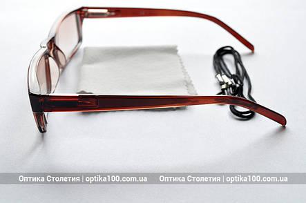 Тонированные коричневые очки для зрения с диоптриями, фото 2