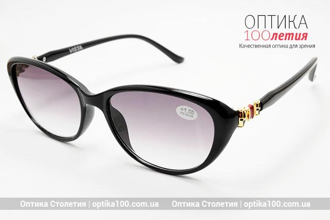 Женские очки с диоптриями для зрения с тонировкой