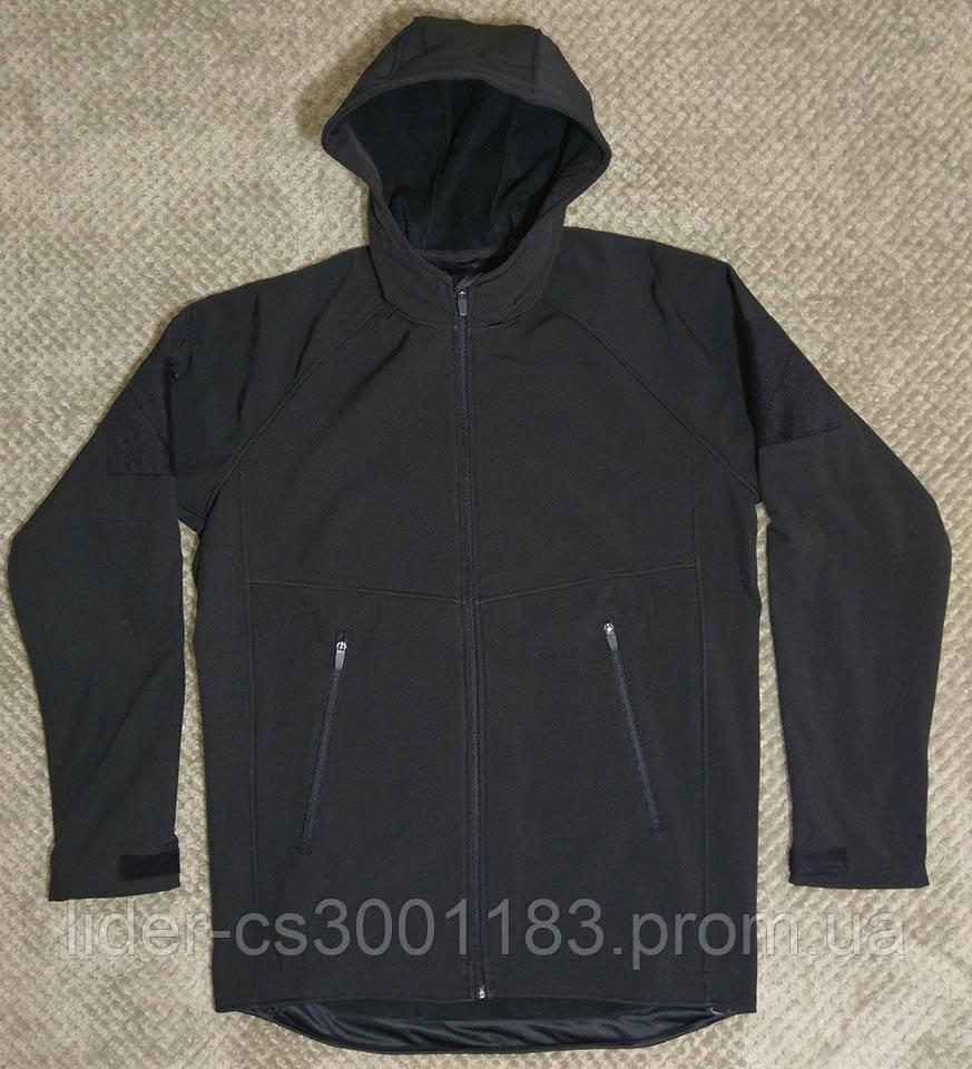 Тактична куртка з капюшоном софтшелл softshell Black