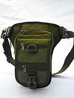 Тактическая (поясная) наплечная сумка с отделением под пистолет Olive, фото 1