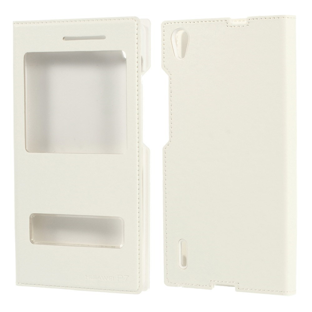 Чехол книжка double window folio для Huawei Ascend P7 белый