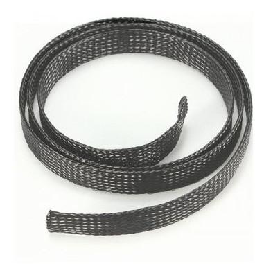 Кабельне обплетення зміїна шкіра 8мм, чорна