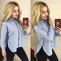 Женская рубашка с разрезами по бокам / хлопок / Украина 13-180, фото 1