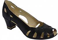 Босоножки женские кожаные на каблуке 36Р