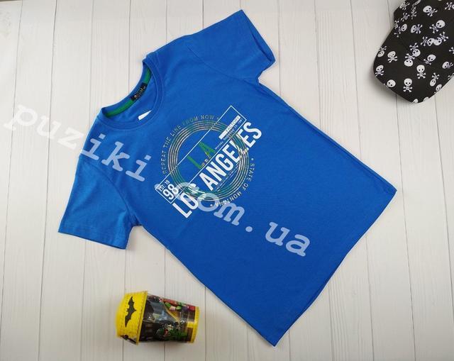 Футболка синего цвета для мальчика изображение