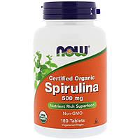 NOW_Spirulina 500 мг - 180 таб