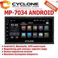 Автомагнитола 2 DIN CYCLONE MP-7034 A на Android с WiFi, GPS навигацией и Bluetooth