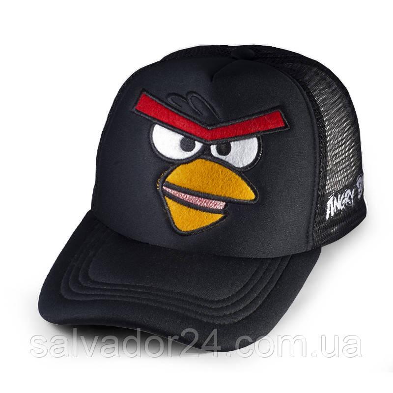 Бейсболка Angry Birds Злая птичка, черная кепка блайзер
