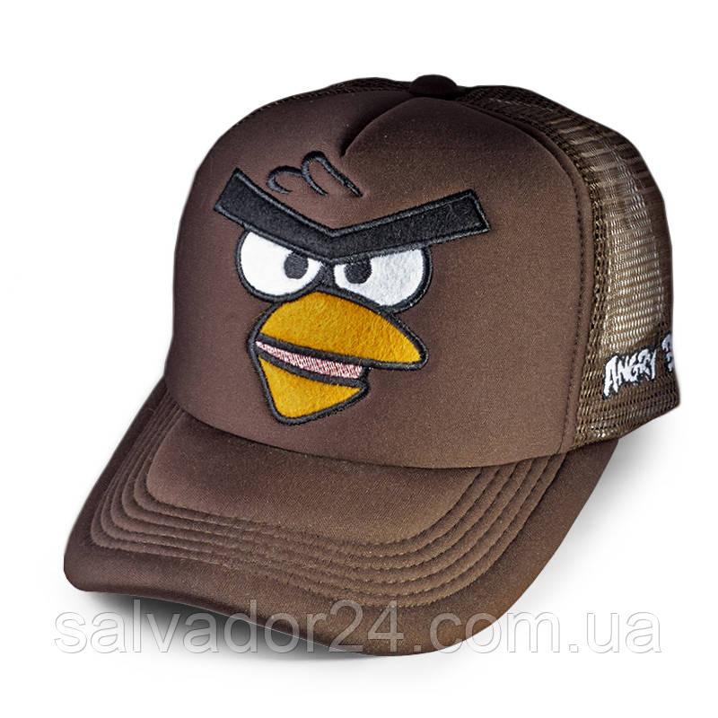 Бейсболка Angry Birds Злая птичка, коричневая кепка блайзер