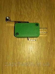 Мікровимикач (кінцевик) 15А, 3 контакта з планкою і роликом