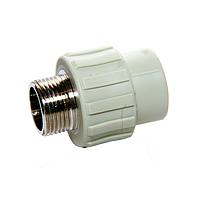 Муфта PPR с НР 20х3/4 220/22 GRE Aqua Pipe