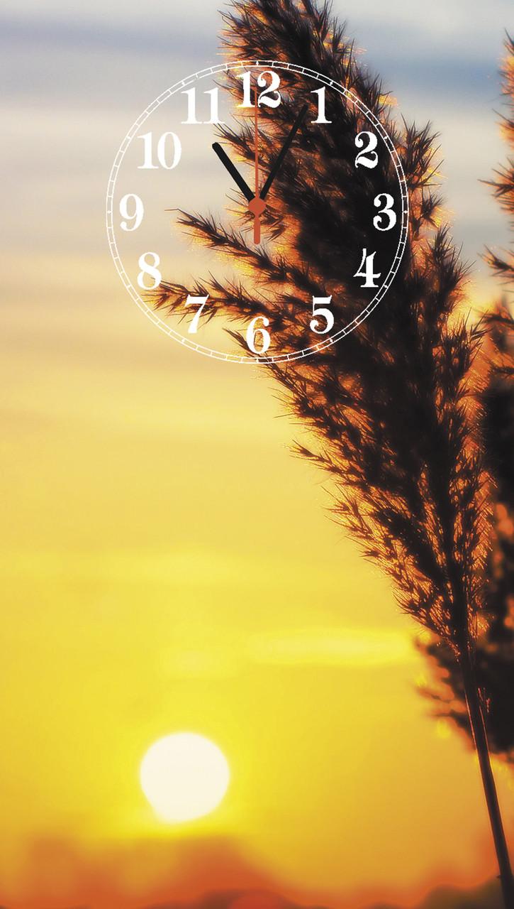"""Часы настенные стеклянные """"Солнце на закате"""""""