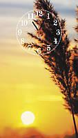 """Часы настенные стеклянные """"Солнце на закате"""", фото 1"""