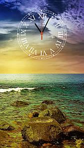 "Часы настенные стеклянные ""Закат на море"""