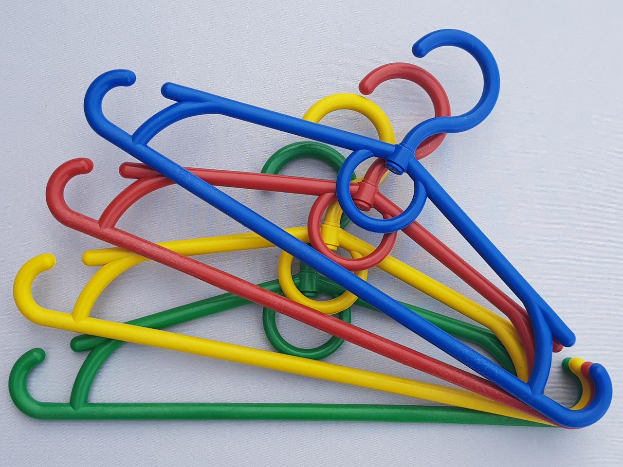 Плечики вешалки тремпеля детские, длина 31 см, в упаковке 10 штук