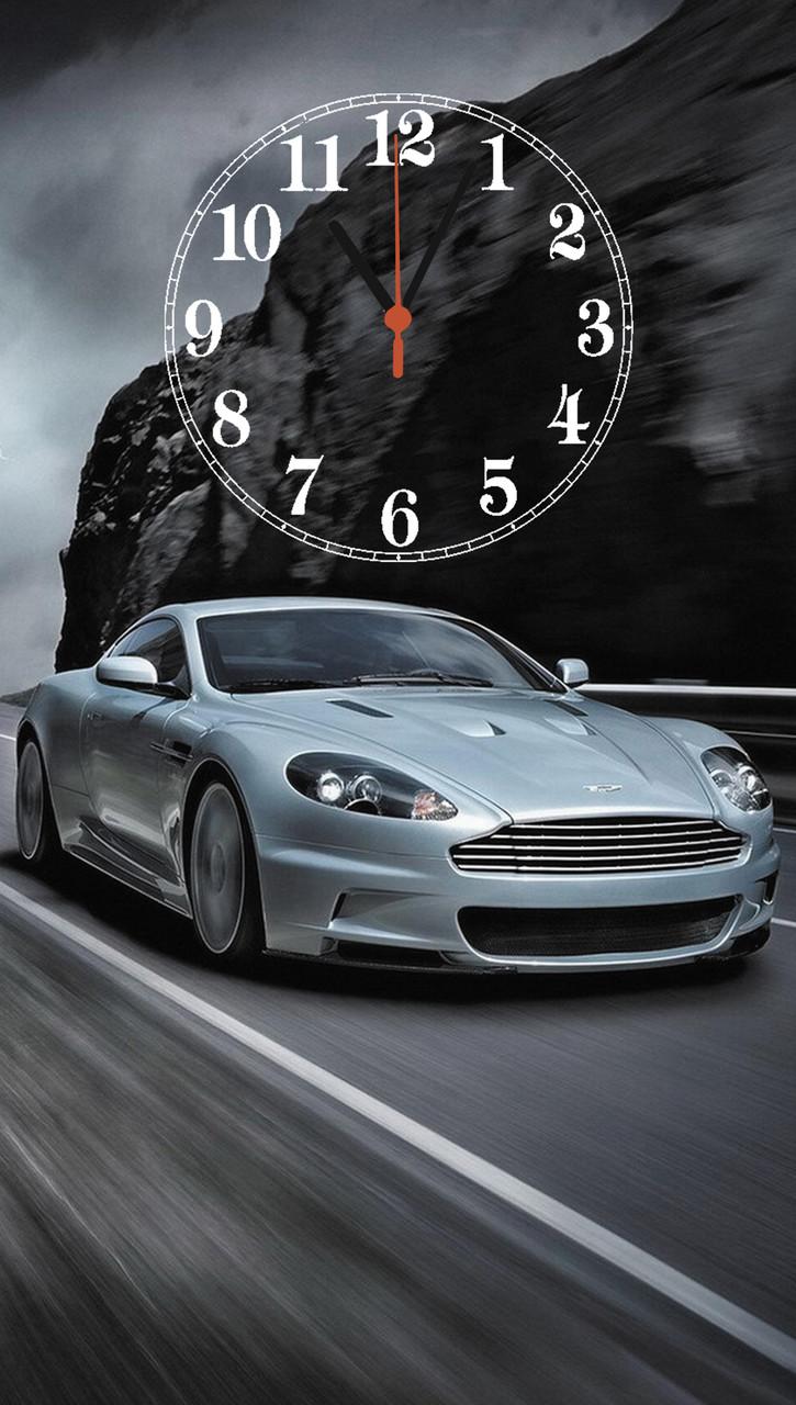 "Часы настенные стеклянные ""Aston Martin"""