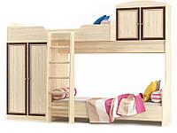 Кровать горка Дисней (Мебель-Сервис)  2942х1062х2180мм дуб светлый