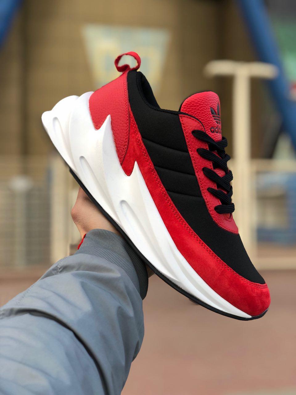 8f98a2f4 Кроссовки мужские Adidas SHARKS красные (реплика) - Интернет-магазин  мужской одежды и обуви